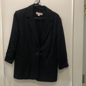 Michael Kors blazer with ruched sleeves